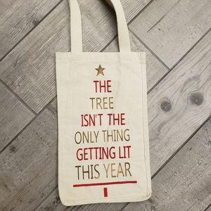 NWOT canvas wine bag